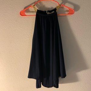 Michael Kors navy chain top XS💙